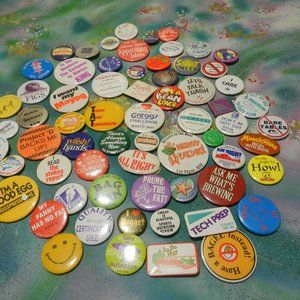 VTG lot of assorted industry advertisal button pin